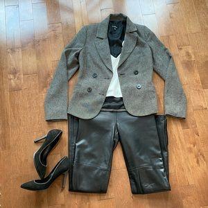 Le Chateau black grey blazer size XXS